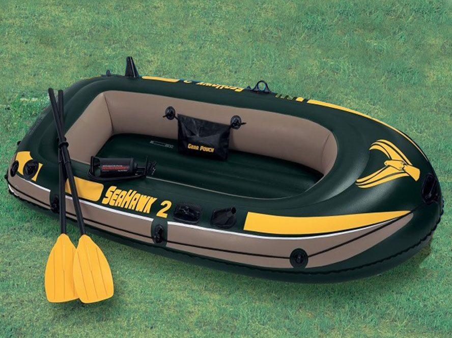 купить надувную лодку intex из пвх для рыбалки